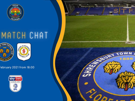 Pre-match Crewe
