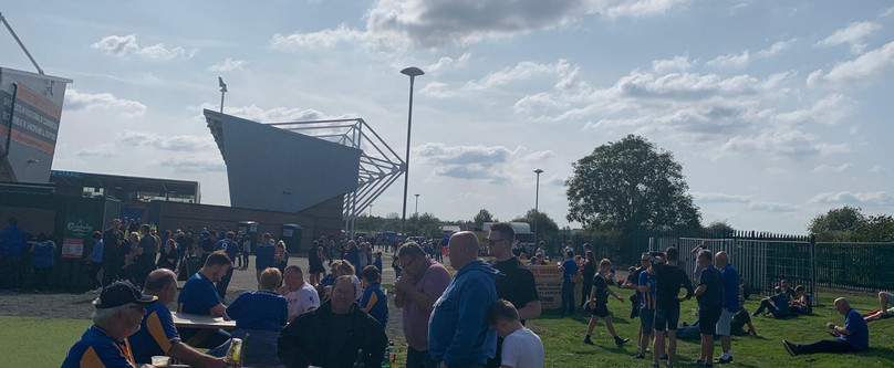 Supporters return to the FanZone