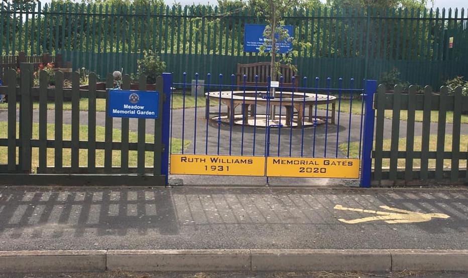New gate at the Memorial Garden