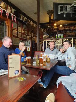 Pre-match drinks