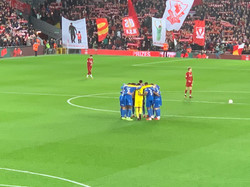 Huddle at Anfield