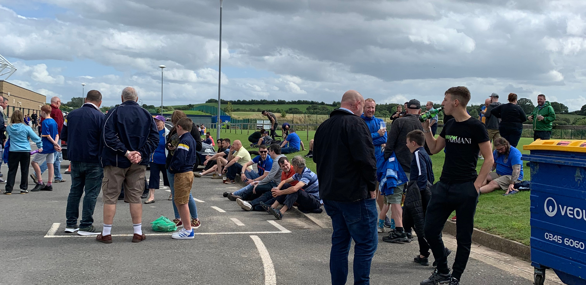 Supporters enjoy old FanZone