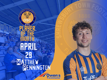 April's Player of the Month is