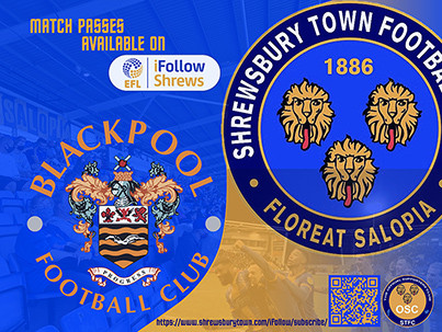 Blackpool away is available on iFollow