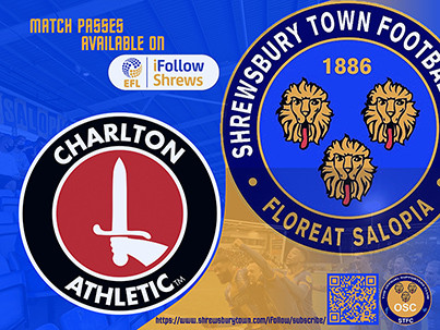 Charlton Athletic away is available on iFollow