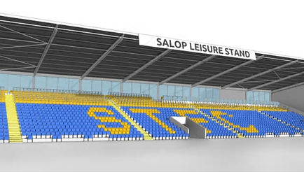 The OSC sponsored Shrewsbury Town's Safe Standing