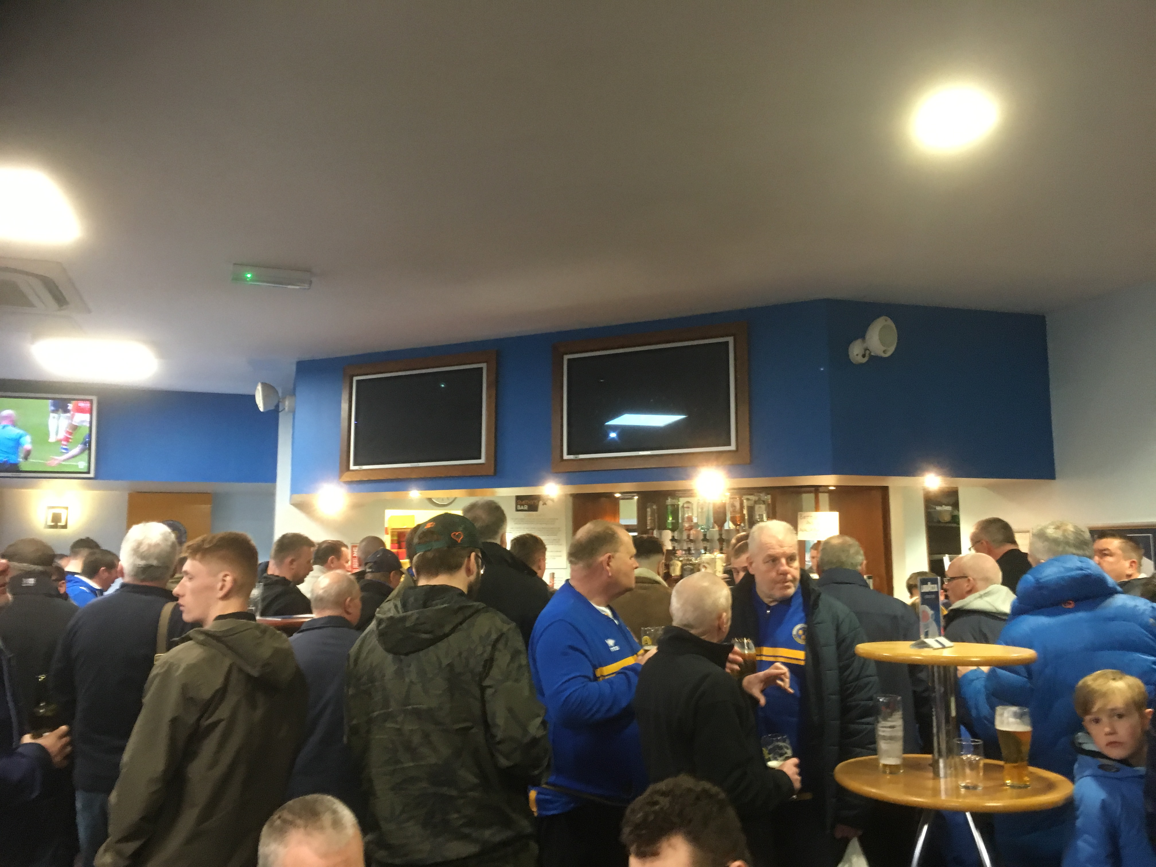 Pre-match in Smithy's Bar