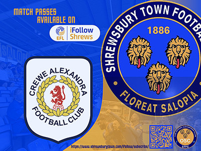 Last away game at Crewe is available on iFollow