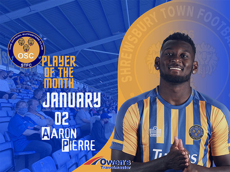 Player of the Month for January is.....