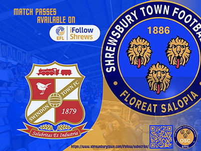 Swindon Town away is available on iFollow