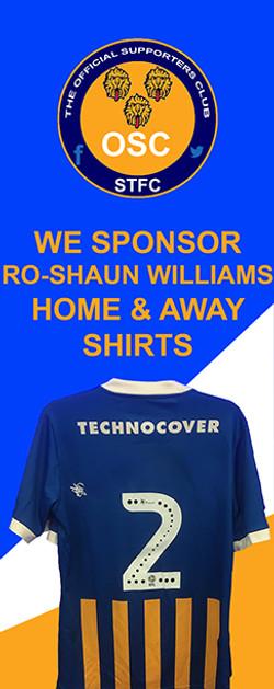 RO-SHAUN WILLIAMS  HOME & AWAY KITS
