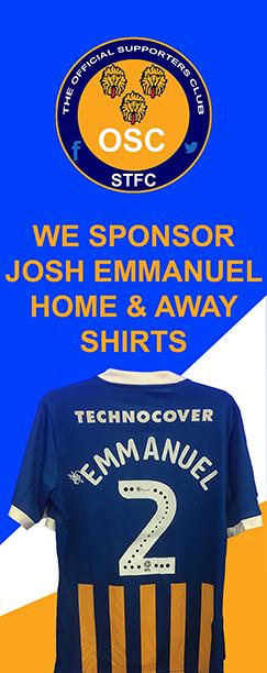 JOSH EMMANUEL HOME & AWAY KITS