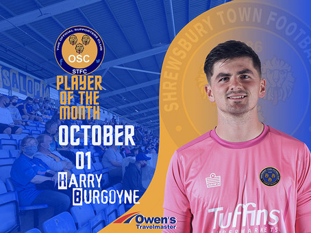 Player of the Month for October is...