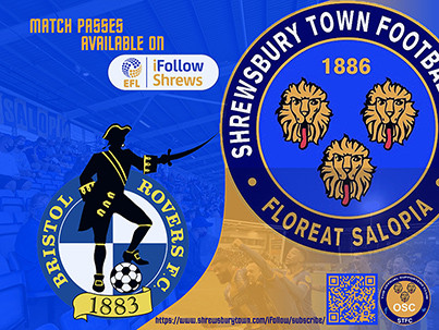 Bristol Rovers away is available on iFollow