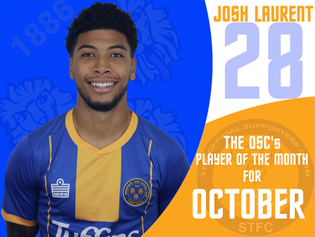 The OSC's player  of the month for October