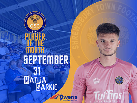 Player of the Month - September