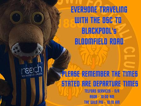 Blackpool tomorrow