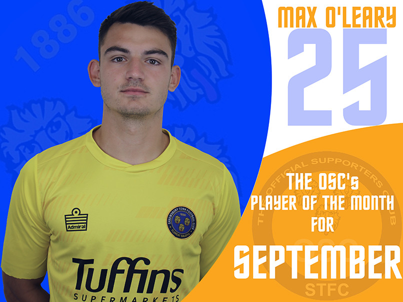 Shrewsbury Town OSC's travelling supporters voted Max O'Leary as their player of the month.