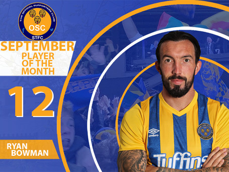 September's Player of the Month is..