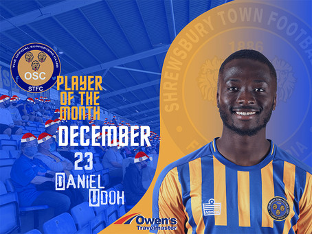 Decembers Player of the Month is.....