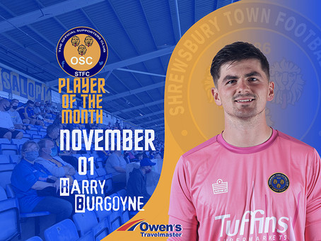 OSC's Player of the Month for November is......