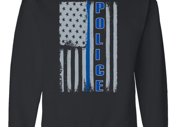 Police Flag Sweatshirt