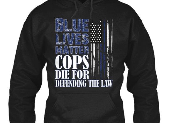 Blue Lives Matter Sweat Hoodie