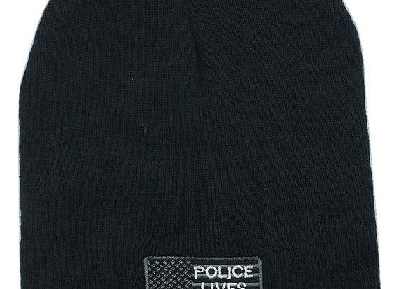 Police Black Beanie