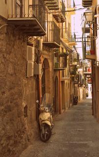 Vespa in the alley