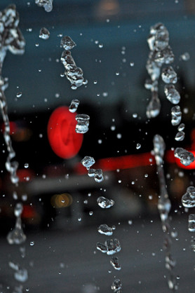 Waterdrops in the air