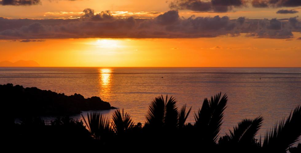 Solnedgång över Medelhavet