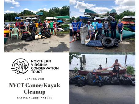 NVCT's Canoe/Kayak Cleanup of Fairfax's Dyke Marsh a Huge Success