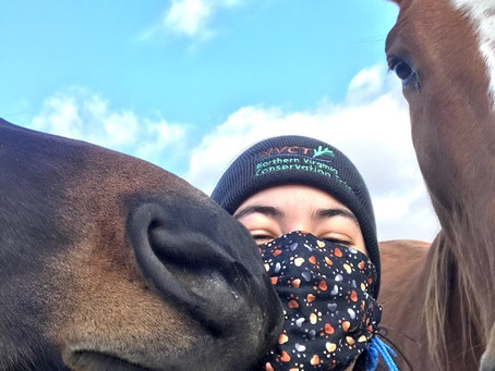 NVCT Stewardship Specialist Alyssa Hemler Shares Selfie With Her New Friends