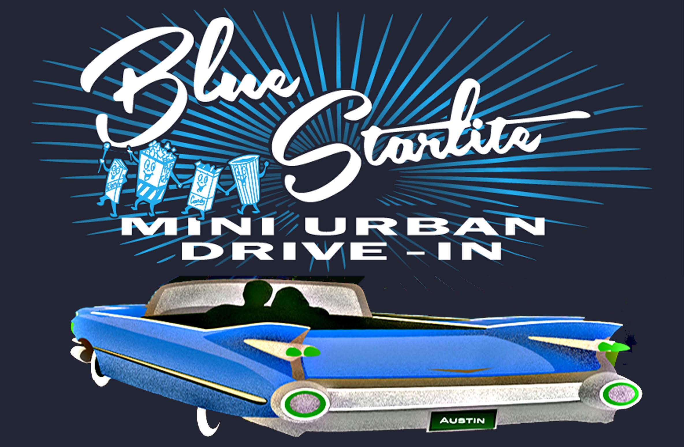 Mini Urban Drive In Movie Theatre The Blue Starlite