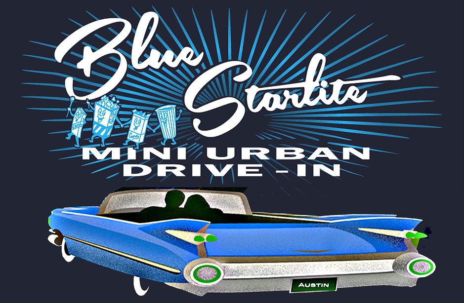 blue starlite drive in logo