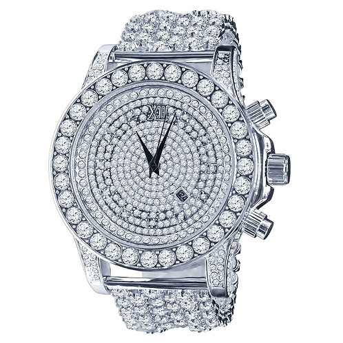 BURNISH CZ ICED OUT WATCH | 5110291