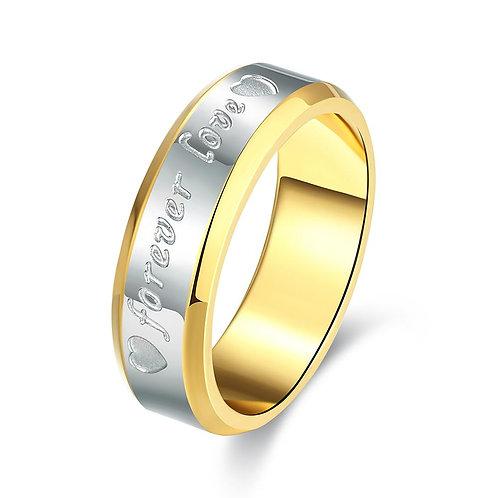 14K Gold Plating Forever Love Band Ring