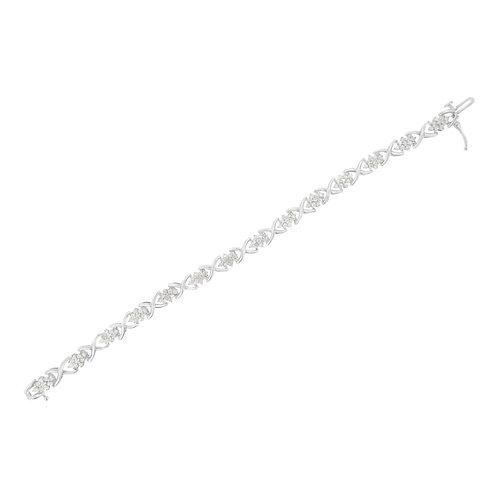 Sterling Silver 2 1/4ct TDW Diamond Link Bracelet