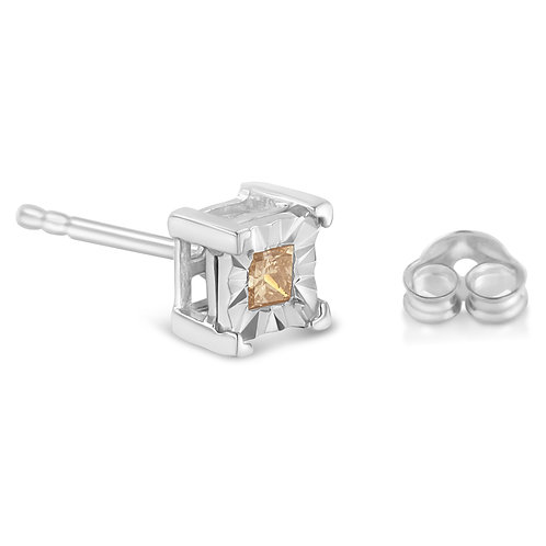 Sterling Silver 3/8ct. TDW Princess-cut Diamond
