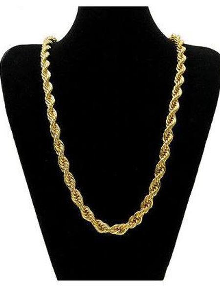 14K Yellow Gold Solid Brass Classic Korean Chain