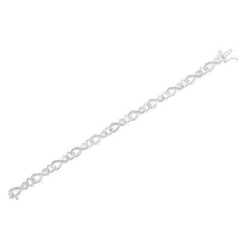 Sterling Silver 1/5ct. TDW Diamond Infinity Link