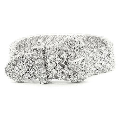 LOS179 Rhodium 925 Sterling Silver Bracelet with