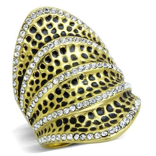 TK1887 IP Gold(Ion Plating) Stainless Steel Ring