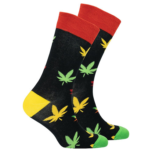 Men's Colorful Weed Socks