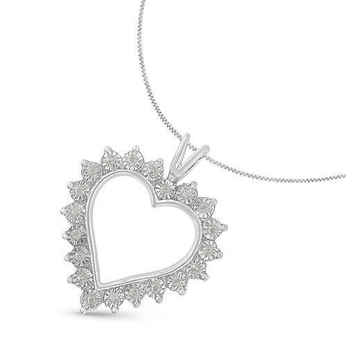 Sterling Silver 1/4ct. TDW Rose cut  Diamond