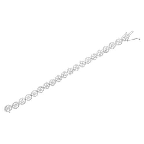 Sterling Silver 1/2ct TDW Diamond Tennis Link