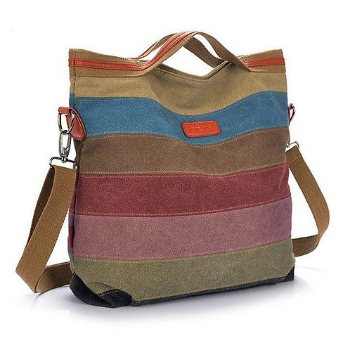bags for Women Canvas Striped Crossbody