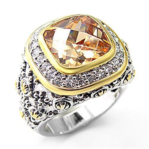 7X181 Reverse Two-Tone 925 Sterling Silver Ring