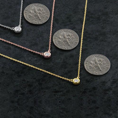 10K Rose Gold 1/10ct. TDW Bezel-Set Diamond