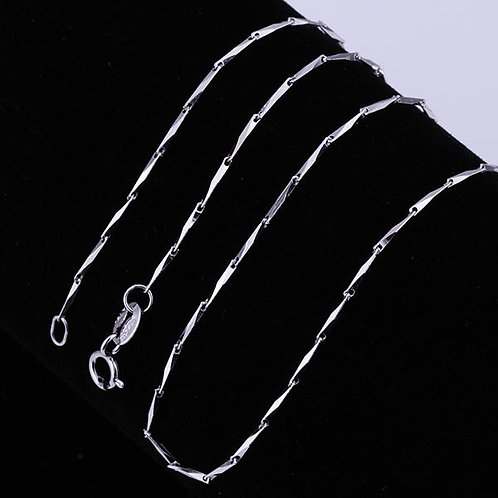 Chain Necklace in 18K White Gold Plated